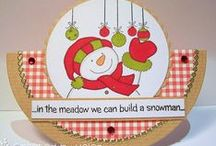 Christmas Snowmen Stamp Set / Cards made using our Christmas Snowmen Stamp Set