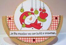 Christmas Snowmen Stamp Set / Cards made using our Christmas Snowmen Stamp Set
