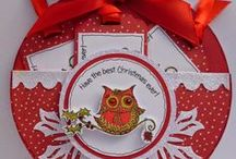 Dinkies Holly Owl Stamp / Cards made using our 'Dinkies Holly Owl' stamp