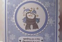Penguin Hugs / Cards made using our 'Penguin Hugs' stamp
