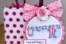 Dinkies Baby Washing Line / Cards made using our Dinkies 'Baby Washing Line' stamp