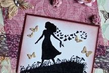 Silhouette Meadow Girl / Cards made using our 'Silhouette Meadow Girl' stamp