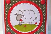 Daisy the Sheep Dinkie Stamp / Cards made with our new 'Daisy the Sheep' Dinkie Stamp