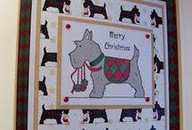 Christmas Scotties Stamp Set / Cards made using our 'Christmas Scotties' Stamp Set