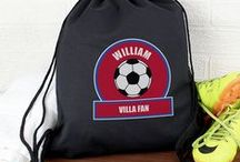 Football Fan / For the sports fanatics out there we have created this sporty and simple design. The younger generations can enjoy taking their latest hobby around in their Kit Bags and using the stationery for homework whilst the older generation can indulge in a cup of hot tea/coffee in a mug with their favourite  team colours on the front.