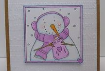 Dinkies Brrrr ......... / Cards made using our new Dinkies 'Brrr .....' stamp