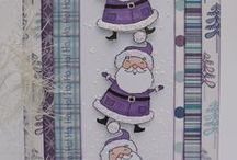 Dinkies Cute Santa / Cards made using our Dinkies 'Cute Santa' stamp