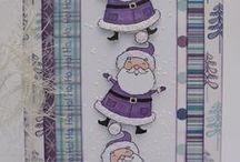 Dinkies Cute Santa / Cards made using our Dinkies 'Cute Santa' stamp