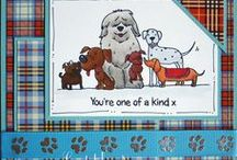 We 6 Dogs / Cards made using our 'We 6 Dogs' stamp - NB this stamp is also available as a Dinkie stamp