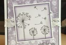 Dinkies Boxed Dandelion / Cards made using our Dinkies Boxed Dandelion stamp