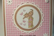 Dinkies Butterfly Cat / Cards made using our Dinkies Butterfly Cat Stamp