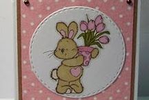 Tulip Bunny Dinkie Stamp / Cards made using our Tulip Bunny Dinkie stamp