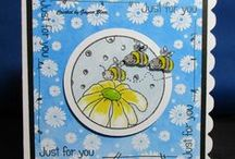 Bee Flower Dinkie Stamp / Cards made  using our Bee Flower Dinkie stamp