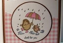 Dinkie Rain Hogs / Cards made using our Dinkie Rain Hogs stamp