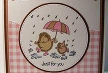 Dinkie Rain Hogs / Cards made using our Dinkie Rain Hogs stamp