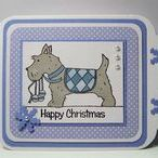 Dinkies Bauble Scottie / Cards made using our 'Dinkies Bauble Scottie' stamp