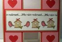Dinkies Row Robins Birdhouses / Cards made using our 'Dinkies Row Robins Birdhouses' stamp