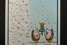 Dinkies Bauble Hedgehogs / Cards made using our 'Dinkies Bauble Hedgehogs' stamp