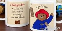 Paddington Bear / This lovable character has made a return to the affections of many, young and old alike. The designs are catered for any occasion of the year - from birthdays, back to school and Christmas! The range comprises of Water Bottles, Lunch Bags (that you can fill with Marmalade Sandwiches!), Height Charts, Photo Frames, Stationery, Sweets, Teddies and many more!
