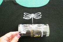 Schönes mit Textilfarben gestaltet / Was man so alles mit Textilfarben machen kann!