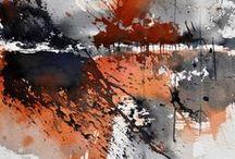 aquarelles abstraction