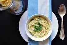 Vege food / Food aglio oli #whitetableclothblog
