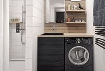 LAUNDRY ROOM / Inspiration for decorating the most boring room in the house. Maybe not so boring after all?