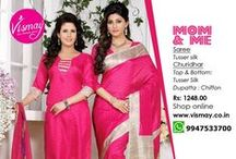 Vismay Ladies Dresses Awesome Designs World / Tweet   Ncpl Kochi India Return Policies  Vismay Bhagalpuri Silk Saree Jalwa   Vismay introduced new ranges of elegent Silk Sarees named as Jalwa. This saree made of bhagalpuri silk material . Bhagalpuri silk now come with georgeous colours Contrast boarders. It suit  for wedding and functions.   Length     - 5.35mtr Width       - 100cm  Material  - Bhagalpuri silk   SKU: MVISM35037946410  Online Shopping Sarees by Ncpl on Craftsvilla.com  http://www.vismay.co.in/