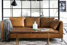 COGNAC / Cognac colored decor and interiors