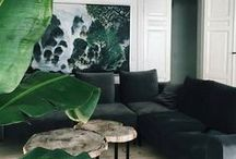 GREEN / Green interior and decor