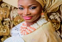 Nigerian bead jewelry, traditional engagement looks we love / Nigerian traditional bead jewelry and traditional outfits  / by Zuri Perle