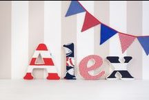 Fabric letters / Fabric letters and bunting flags