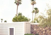 Earp Bros | Breeze Blocks / In a throwback to the 60s, Breeze Blocks also known as Besser Bricks are now back en vogue and gracing the facades of trendy hotels, bars and restaurants in areas of the world where the sun is always shining think Palm Springs and Byron Bay.