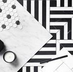 Earp Bros | Marble Mosaic Tiles / The Earp Bros range of monochrome marble mosaic tiles feature geometric patterns based on the classic European marble floors seen in classic Greek architecture with a modern twist.