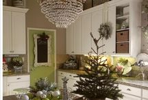 Crystal in the Kitchen! / Who said you can't but a crystal chandelier in the kitchen?  These kitchens look fantastic.