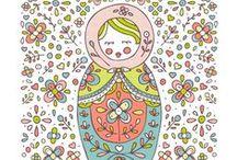 Puppets - dolls - bonecas / bichinhos, travesseiros, bonecas, bonecos de pano / by Celia Ponte
