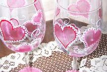 Painted Wine Glass / Painted Wine Glass DIY / by Kim Anderson