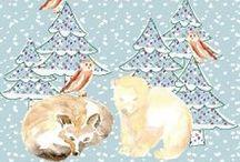 Noël / Des idées cadeaux de Noël de couture, tissu, customisation, kits DIY de couture, trousses de toilette by Corailindigo