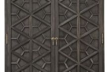 Fretwork, screens & dividers / Screens design, metall and wood fretwork and room dividers in interior design