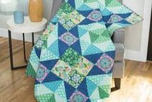 Easy Quilt for Beginners / http://quilting.myfavoritecraft.org/patchwork-quilts-patterns-for-beginners/