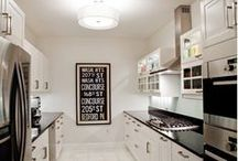 KITCHEN / Simple b&w kitchens with arabic elements. I hope you enjoy my boards. I have filled them with things I love.