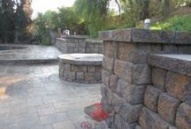 Fire Pit & Fireplace Projects – Go Pavers / Paver Fire Pits & Fireplace projects installed by GoPavers.com in the Southern California area.