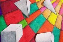 Ideas geométricas. / Trabajos geométricos para realizar con cuadrícula y diversos materiales.