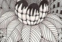 Texturas en Blanco y Negro. / Estructuras en base a líneas y colores.