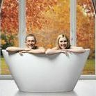 Tubs for Two! / Enjoying an intimate bathing experience as a couple can be a luxurious treat with a thoughtfully designed tub for two. Here's our round-up of two-person bathtub inspiration.