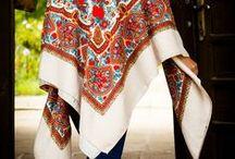 Vintage Babushka Scarves Russian Shawls / Authentic ethnic accessories, vintage Eastern European babushka scarves and Russian shawls from the 20th century.  #scarves #babushka #russian #shawls #vintage #retro #woolen #wool #floral