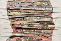 Collages/papier/fil