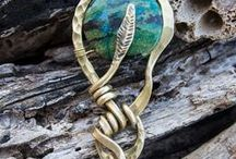 Amazing handmade Jewellery #metal #stone #hammered / Inspirational designs from the best craftsmen out there!