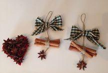 Decorazioni Natale / Felt decoration , cinnamon