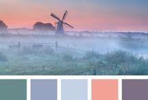 color palette ideas / Kleurschema voorbeelden